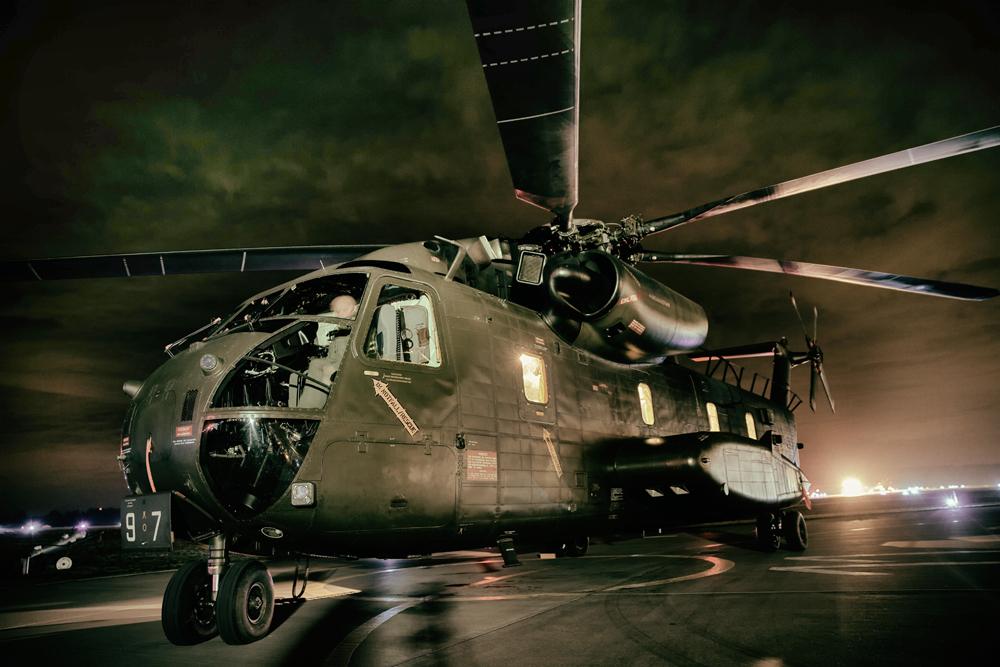 Bundeswehr Hubschrauber CH-53GA, Standort Holzdorf